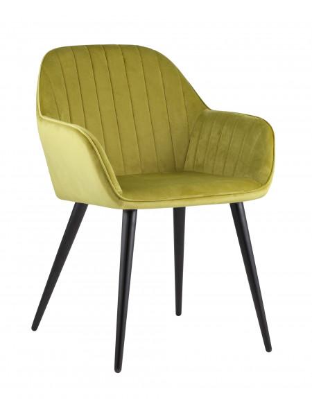 Кресло Кристи зеленое мягкое обивка велюр