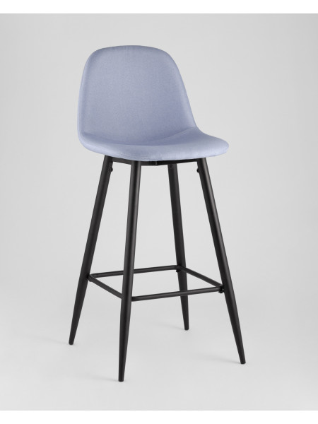 Барный стул Валенсия небесно-голубойстальной каркас