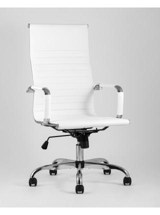 Копмьютерное кресло TopChairs City офисное белое обивка экокожа