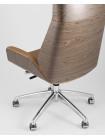 Копмьютерное кресло TopChairs Crown офисное для руководителя коричневое
