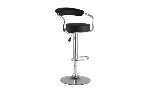 Барный стул Орион черный каркас с подножкой хром