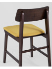 Стул ODEN желтый обеденный деревянный массив гевеи с мягким сиденьем и спинкой