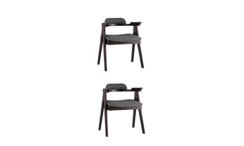 Комплект стульев OLAV мягкое тканевое серое сиденье