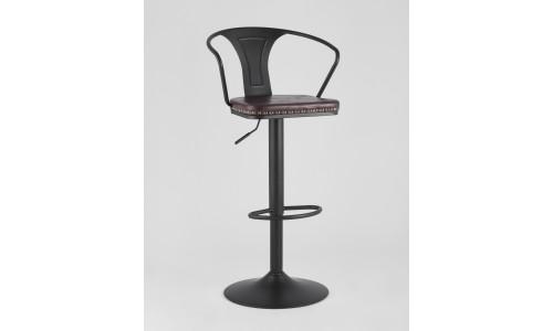 Барный стул TOLIX ARMS SOFT черный каркас сталь