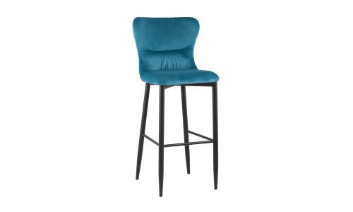 Барный стул Лилиан велюр бирюзовый