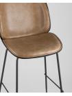 Барный стул Beetle Lite PU со спинкой бежевый