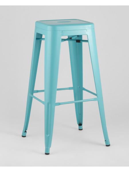 Барный стул голубой матовый