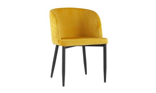 Стул Оскар велюр оранжевый мебельная ткань велюр