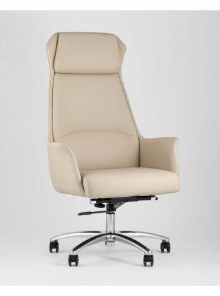 Копмьютерное кресло TopChairs Viking офисное бежевое обивка экокожа