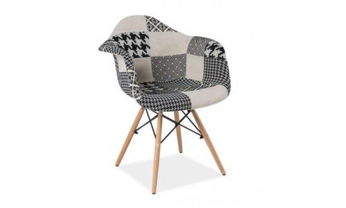 Стул Eames в стиле пэчворк черно-белое