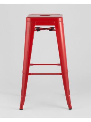 Барный стул красный глянцевый