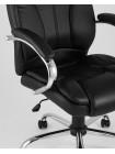 Копмьютерное кресло TopChairs President офисное черное в обивке из экокожи