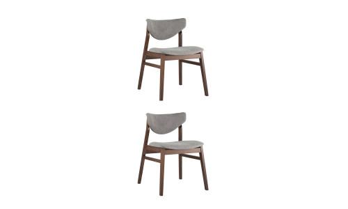 Комплект стульев Ragnar мягкое тканевое серое сиденье