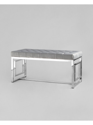 Банкетка БРУКЛИН сталь серебро