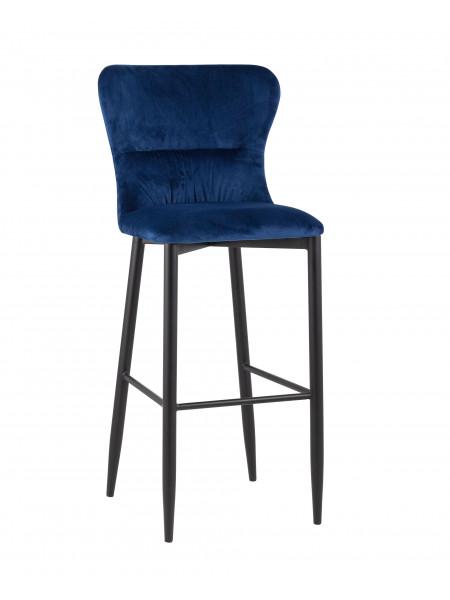 Барный стул Лилиан велюр синий