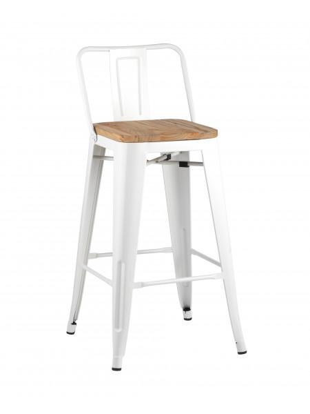Барный стул Tolix со спинкой белый