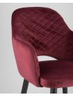 Cтул Венера диамант велюр бордовый мебельная ткань велюр