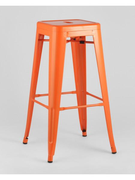 Барный стул оранжевый глянцевый