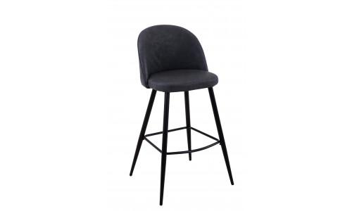 Барный стул барный Лион темно-серая экокожа черные ножки