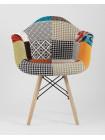 Кресло Eames DSW обивка тканевая в стиле пэчворк