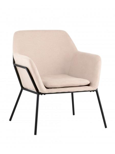 Кресло Шелфорд светло-розовое мягкое тканевое