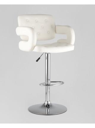 Барный стул Бентли белый PU-кожа