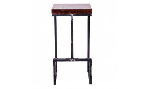 Барный стул Альтрон с деревянным сиденьем