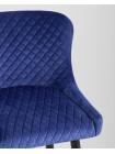 Барный стул Ститч велюр синий