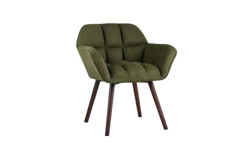 Кресло Брайан мягкое зеленое обивка из замши