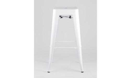 Барный стул белый глянцевый