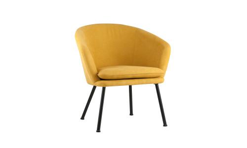 Кресло Декстер мягкое оранжевое тканевое