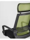 Офисное кресло TopChairs Style зеленое в обивке с сеткой