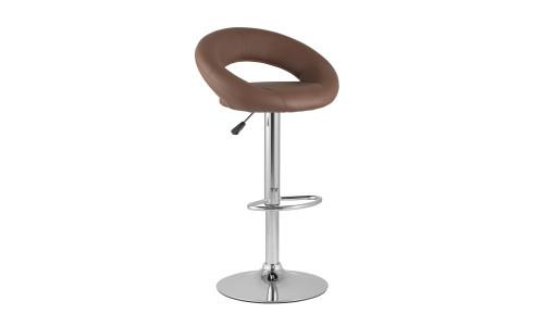 Барный стул Купер коричневый кожаное сиденье