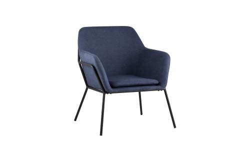 Кресло Шелфорд синее мягкое тканевое