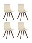 Комплект стульев MARTA бежевые экокожа