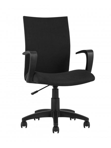 Офисное кресло TopChairs Harmony черное в прочной текстильной обивке