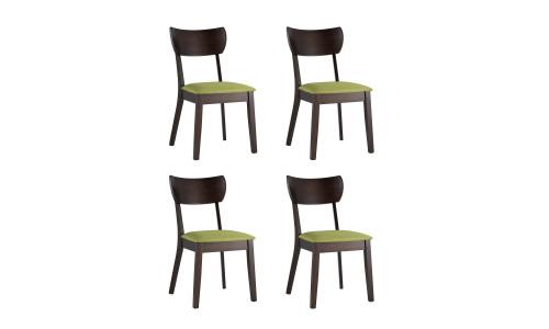 Комплект стульев TOMAS мягкое салатовое сиденье