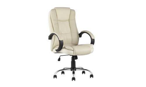 Копмьютерное кресло TopChairs Atlant офисное бежевое обивка экокожа