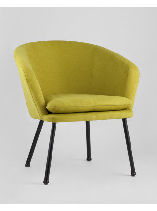 Кресло Декстер мягкое зеленое тканевое