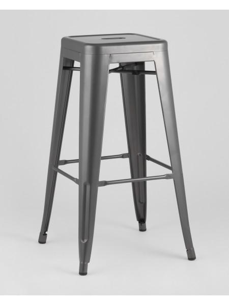 Барный стул серебристый матовый