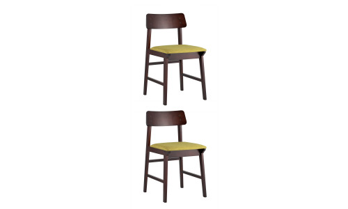 Комплект стульев ODEN мягкая тканевая зеленая обивка
