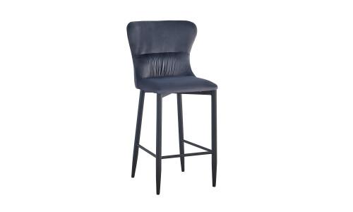 Барный стул Лилиан велюр серый мягкая обивка