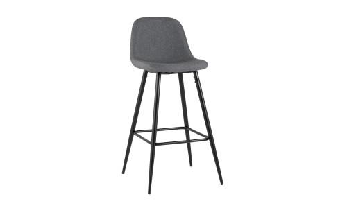 Барный стул Валенсия серый с подножкой