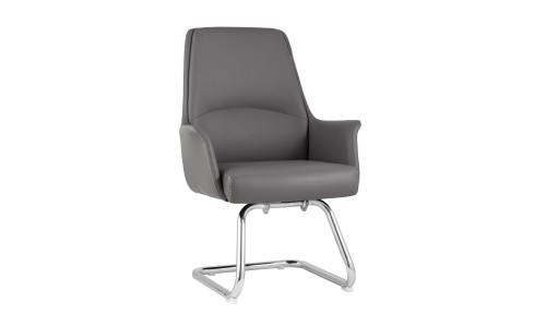 Офисное кресло TopChairs Viking серое обивка экокожа