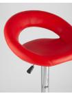 Барный стул Купер красный кожаное сиденье