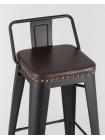 Барный стул SOFT черный матовый экокожа