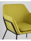 Кресло Шелфорд зеленое мягкое тканевое