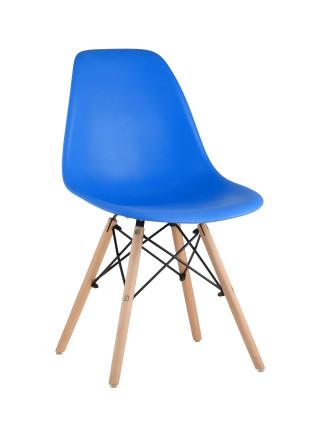Комплект стульев Eames DSW синий пластиковый