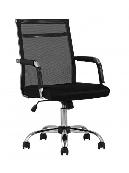 Офисное кресло TopChairs Clerk черное в обивке из экокожи