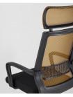 Офисное кресло TopChairs Style оранжевое в обивке с сеткой